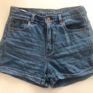 American Eagle Denim Mom Shorts